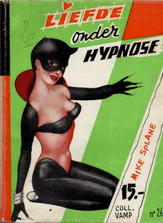 Vamp 26Liefde onder hypnose by Mike Splane---Pulp Catwoman?