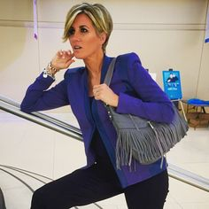 Striking a pose at the Q today-- how #editorial of me ;) Loving this GILI Blazer…