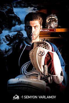 Semyon Varlamov, #1, goal tender of the Colorado Avalanche.