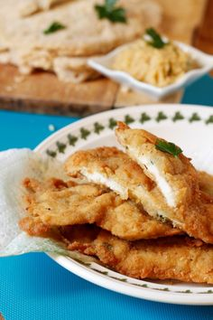Chicken cutlets – made this way are delicious Polenta, Fish Recipes, Sweet Recipes, Chicken Recipes, Pollo Chicken, Baked Chicken, Good Food, Yummy Food, Tasty