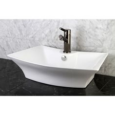 Update your bathroom decor with this unique Sonata vessel sinkLavatory sink is crafted of vitreous chinaBathroom accessory is available in white color option