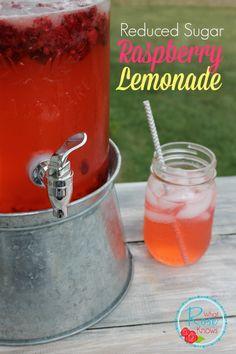 Reduced Sugar Homemade Raspberry Lemonade Recipe on www.whatroseknows.com
