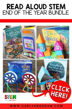 """Make the last week of school memorable with STEM! Create a cereal box memory book to help students process the """"last day blues."""" Engineer an amazing treehouse! Have students imagine, design, build, and write about their dream house using geometry and 3D shapes! Learn about the Chicago World's Fair and make a Ferris Wheel! #STEM #STEMchallenge Stem Activities, Writing Activities, Activities For Kids, Stem Teacher, Elementary Teacher, Read Aloud Books, Coding For Kids, Stem Challenges, Stem Projects"""