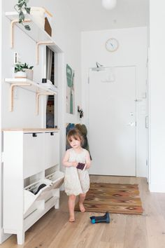 Small entryway with ikea hack cabinet 2019 Small entryway with ikea hack cabinet The post Small entryway with ikea hack cabinet 2019 appeared first on Entryway Diy. eingang Small entryway with ikea Ikea Entryway, Entryway Shoe Storage, Apartment Entryway, Narrow Entryway, Small Entrance, Small Entryways, Small Hallways, Ikea Kids Storage, Ikea Shoe Cabinet