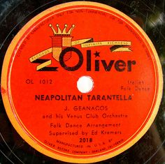 Italian Folk Dance on Oliver vintage record label by SCVHA, via Flickr
