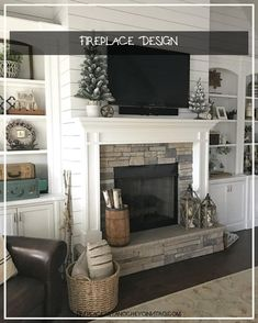 Most up-to-date Images vintage Fireplace Remodel Popular If a room has a fireplace, it is usually the focal point of the room. Update the fireplace with cont Home Living Room, Farm House Living Room, Room Design, Home Fireplace, Living Room Remodel, Room Interior, Fireplace Design, Farmhouse Fireplace Decor, Simple Living Room
