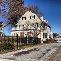 The #21 Creepiest Haunted Houses in America #2 - The Amityville House. If you're a horror movie buff, you know the bloody history behind this suburban New York home. The mass murder of six family members within its walls led to a haunting so frightening that it inspired one of the most iconic horror films in Hollywood history.