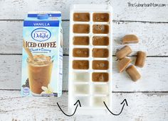 Life Hack -- DIY Coffee Ice Cubes For Iced Coffee with International Delight International Delight Iced Coffee, Iced Coffee Drinks, Iced Tea, Coffee Ice Cubes, Bagel Shop, Happy Drink, Expensive Coffee, Vanilla Vodka, Hot Cocoa Bar
