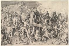 Martin Schongauer - Christ Carrying the Cross, 1475–80, Engraving: 28.9 x 42.9 cm