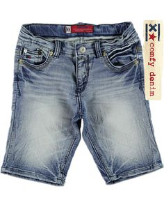 Blue Rebel Carpenter shorts blauw - Carpenter shorts bleach indigo wash met voering van sweatstof €44,99