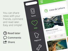 Diário do Nordeste App by Bruno Ribeiro, via Behance