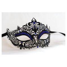 Luxe style vénitien métal filigrane masquerade masque strass superbe papillon