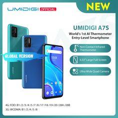 "UMIDIGI A7S 6.53"" 20:9 Large Full Screen 32GB 4150mAh Triple Camera Cellphone Infrared Temperature Sensor Type C Smartphone umidigi power 3,umidigi wallpaper,umidigi a3 pro,umidigi a5 pro wallpaper,umidigi smart watch,umidigi a5 pro cases,umidigi bison,umidigi a7,umidigi s5 pro,umidigi f2,umidigi a3,umidigi a7 pro,umidigi a5 pro,"