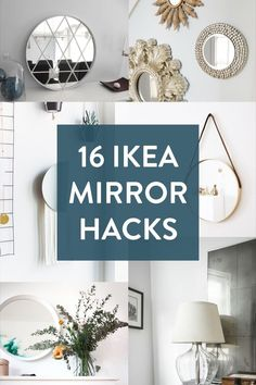 16 of our favorite IKEA mirror hacks. Whether in your entryway, bedroom, or bathroom, a mirror makes a great addition to any space.     #Roundup, #Ikea, #Ikea hack, #mirror, #mirrors, #vanity