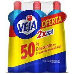 Leve  Pague - 3 Veja Multiuso Original 500ml << R$ 570 >>