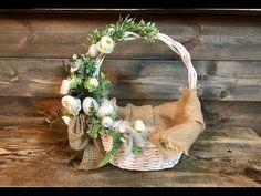 Easter Baskets, Gift Baskets, Easter Crochet, Flower Girl Basket, Easter Crafts, Grapevine Wreath, Flower Decorations, Floral Wedding, Gift Wrapping