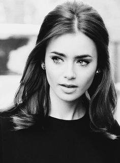 Image via We Heart It https://weheartit.com/entry/143460383 #beautiful #blackandwhite #fashion #glamour #style #woman #lilycollins