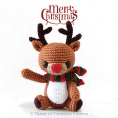 Christmas is only about a month away. So who gets an early Christmas gift? YOU! :D And my gift to you is this super cute free amigurumi pattern for Rudy, the reindeer.Made with sock weight yarn and...