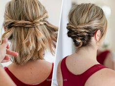 Quick Messy Updo for Short Hair  Quick Messy Updo for Short Hair  http://www.tophaircuts.us/2017/06/10/quick-messy-updo-for-short-hair/