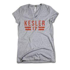 Ryan Kesler NHLPA Officially Licensed Anaheim Women's V-Neck S-2XL Kesler Font O
