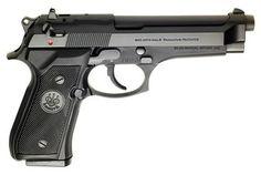 "Beretta 92FS - My first handgun. Wanted a Beretta since I was a kid - Length: 8.5"";  Weight w/mag: 2.15; Mag Capacity: 15"