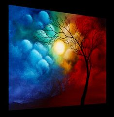 Love Imagined - Original Abstract Tree Painting by Jaime Best