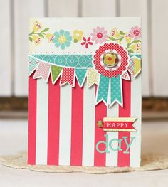 Happy Day Card from Sweet Girl Collection. #echoparkpaper