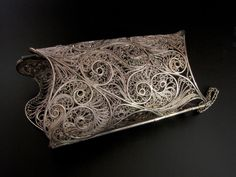 """Bracelet    Victoria Lansford.  """"Icy White and Crystalline""""    Sterling, fine silver"""