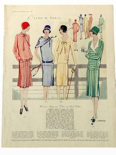 McCall 5329, 5309, 5338 and 5319 in McCall's magazine, July 1928