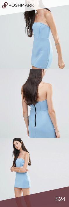 Blue Asos Scuba Dress Pixie and Diamond Bandeau Scuba Dress NWT ASOS Dresses Mini