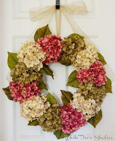Spring and Summer Hydrangea Wreath