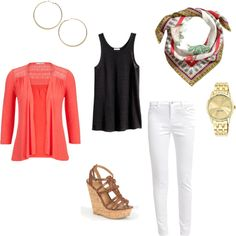 White jeans outfit for spring.