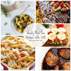Weekly Meal Plan: Five easy weeknight recipes and a printable grocery list.