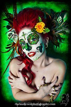 Green Sugar Skull #glitter    Dark Unicorn Photography
