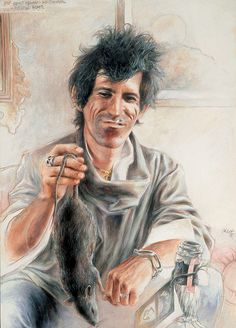"""""""Best Friend He Shoots Water Rats""""...Keith Richards by Sebastian Kruger"""