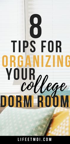 Clutter in your living space can affect your peace of mind. Which is why I have 8 tips for organizing your college dorm room. College Dorm Organization, College Dorm Rooms, College Fun, Life Organization, College Life, Organizing, College Hacks, Dorm Cleaning, Dorm Room Storage