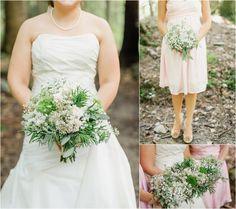 Beautiful wedding bouquets for a mountain wedding by @LisaFosterFD - click to view more!