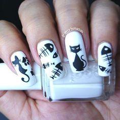 108 Best Uñas Decoradas Con Gatos Images Perfect Nails Cute Nails