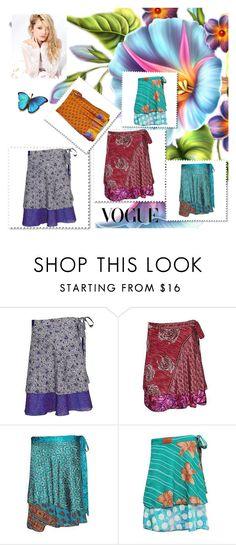 Boho short wrap skirts by baydeals on Polyvore featuring Silvana  http://stores.ebay.com/mogulgallery/Silk-Sari-Skirts-/_i.html?_fsub=761673819&_sid=3781319&_trksid=p4634.c0.m322