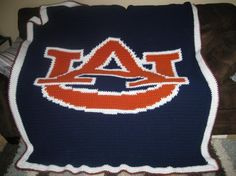 Auburn Football - Crochet Blanket (single crochet, graphgan)