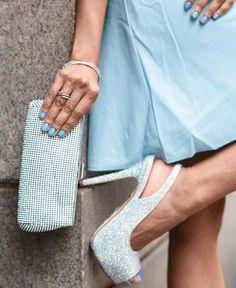 d40484c2296 Lauren Lorraine Candy crystal heels and Glint crystal mesh clutch at  Nordstrom  losangeles  nordstrom