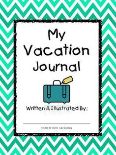 Do you have a primary student preparing for a trip during the school year?  Need to create homework to send with the child?  Want to keep their writing skills sharp while they are away?  This Vacation Journal will be a meaningful and fun writing assignment that your student, and his/her family, will treasure as a memento of their special vacation.