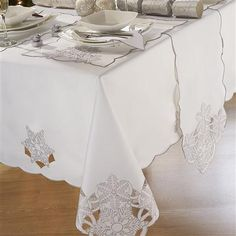 Table de Noël - Nappe rectangulaire, blanc, M [Frost]