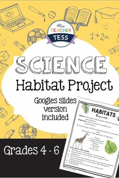 Habitat/ Biome research project. Includes google slides version for grades 4 to 6.