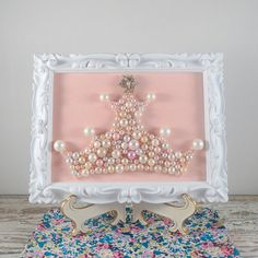 A mixture of found and recycled pearl necklaces make up this pretty piece. For the queen or princess in your life...even if that happens to be you.