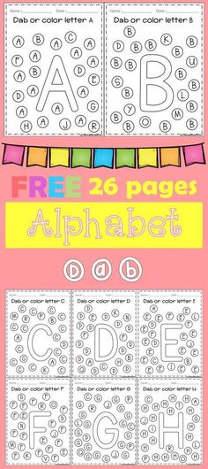 Freebies Alphabet Dap A-Z 26 pages. For PreK and Kindergarten.FREE Freebies Alphabet Dap A-Z 26 pages. For PreK and Kindergarten. Preschool Letters, Learning Letters, Kindergarten Literacy, Preschool Learning, Kindergarten Classroom, Preschool Activities, Preschool Worksheets, Letter Recognition Kindergarten, Alphabet Activities Kindergarten