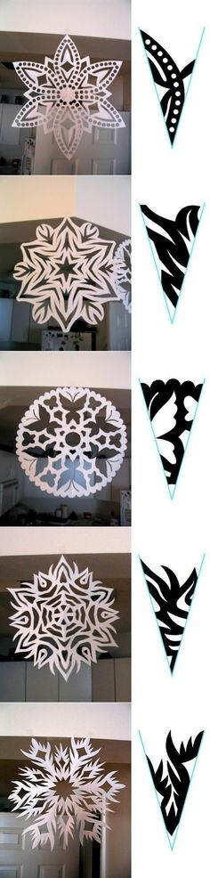 Christmas DIY handmade paper-cut snowflakes illustration Each pattern has beauty to burst