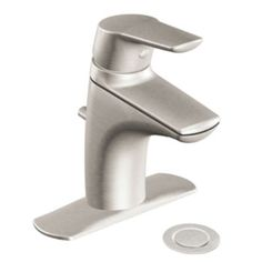 Moen 6810BN Method Single Handle Low Arc Bathroom Faucet - Brushed Nickel