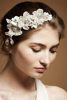 flower headband by Jenny Packham
