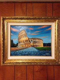 The Colosseum Painting Watercolor Books, Spray Paint On Canvas, Perspective Art, Italy Art, Ancient Rome, Saatchi Art, Orchids, Portugal, Original Paintings